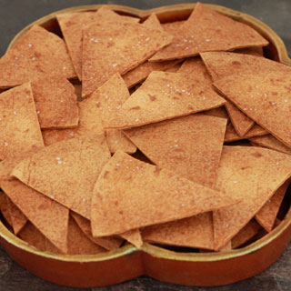 Zelfgemaakte Tortillachips