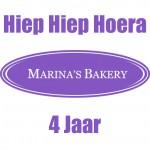 Hiep Hiep Hoera Marina's Bakery 4 jaar