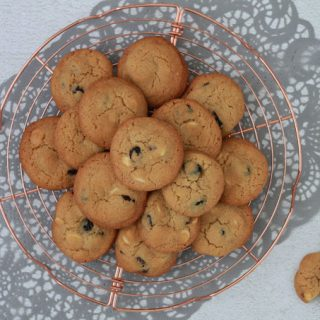 American Cookies met witte chocolade en cranberry's