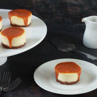 mini cheesecakes met speculaas en karamel
