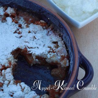 Appel-kaneel crumble