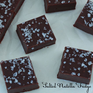 Salted Nutella Fudge