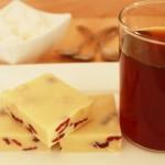 Witte chocolade fudge met cranberry's