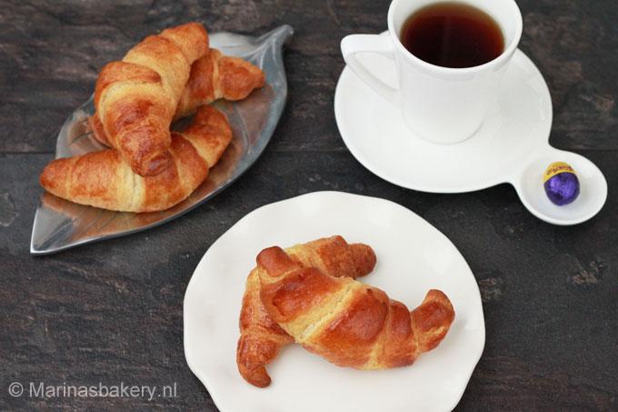 Chocolade paasei croissants