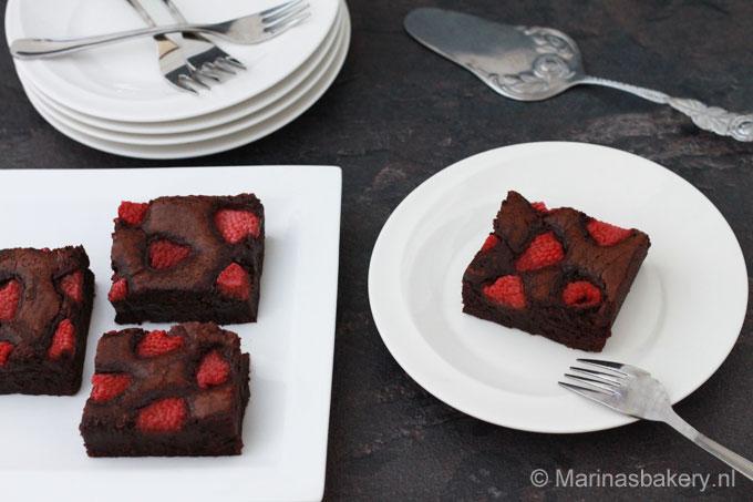Frambozen Brownies